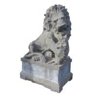 blue stone lions