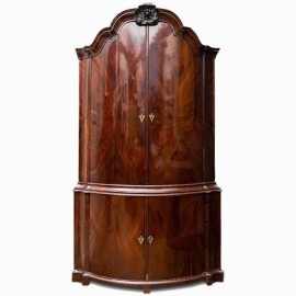 Mahogany Dutch Corner Cabinet